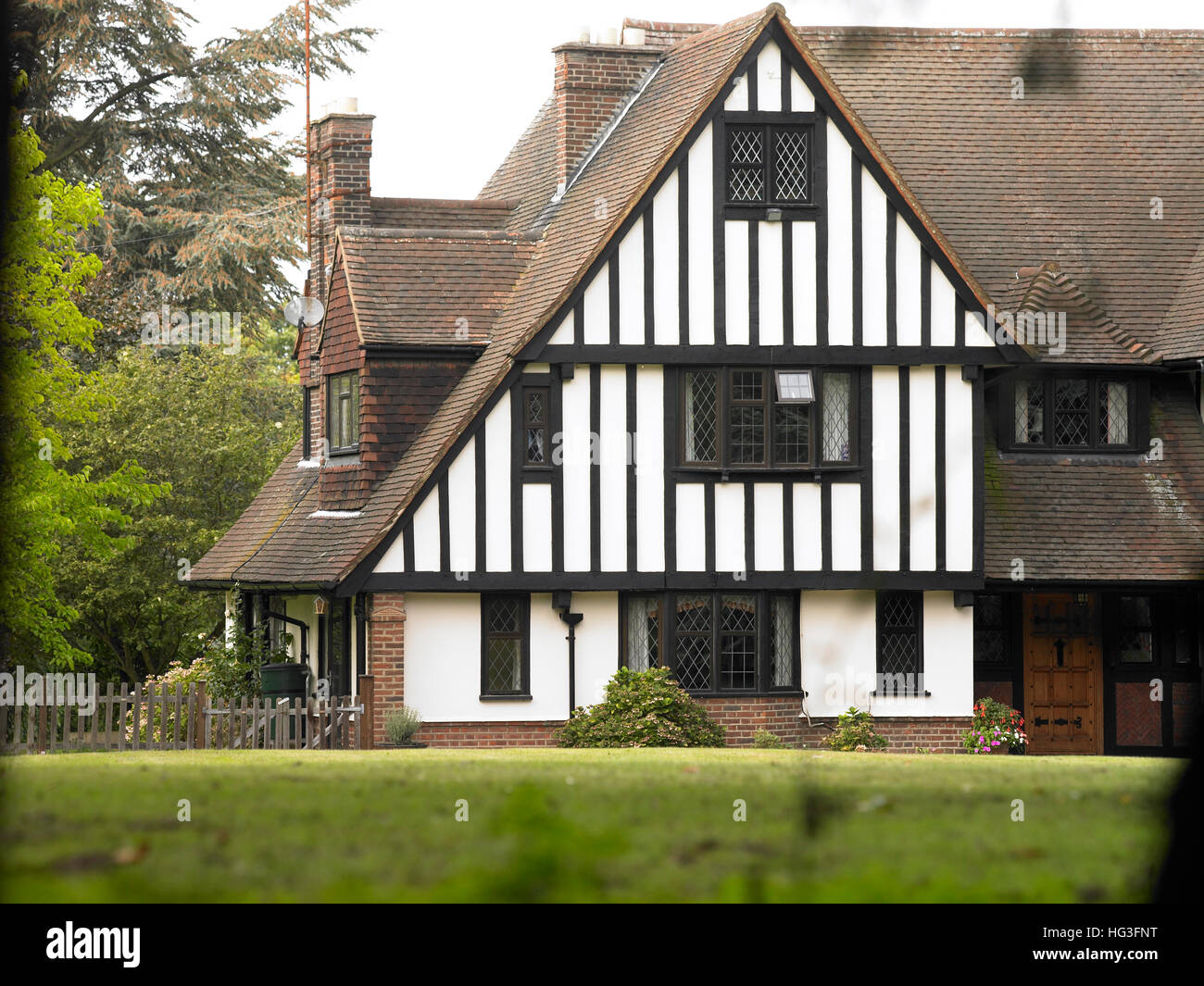 Tudor style house exterior