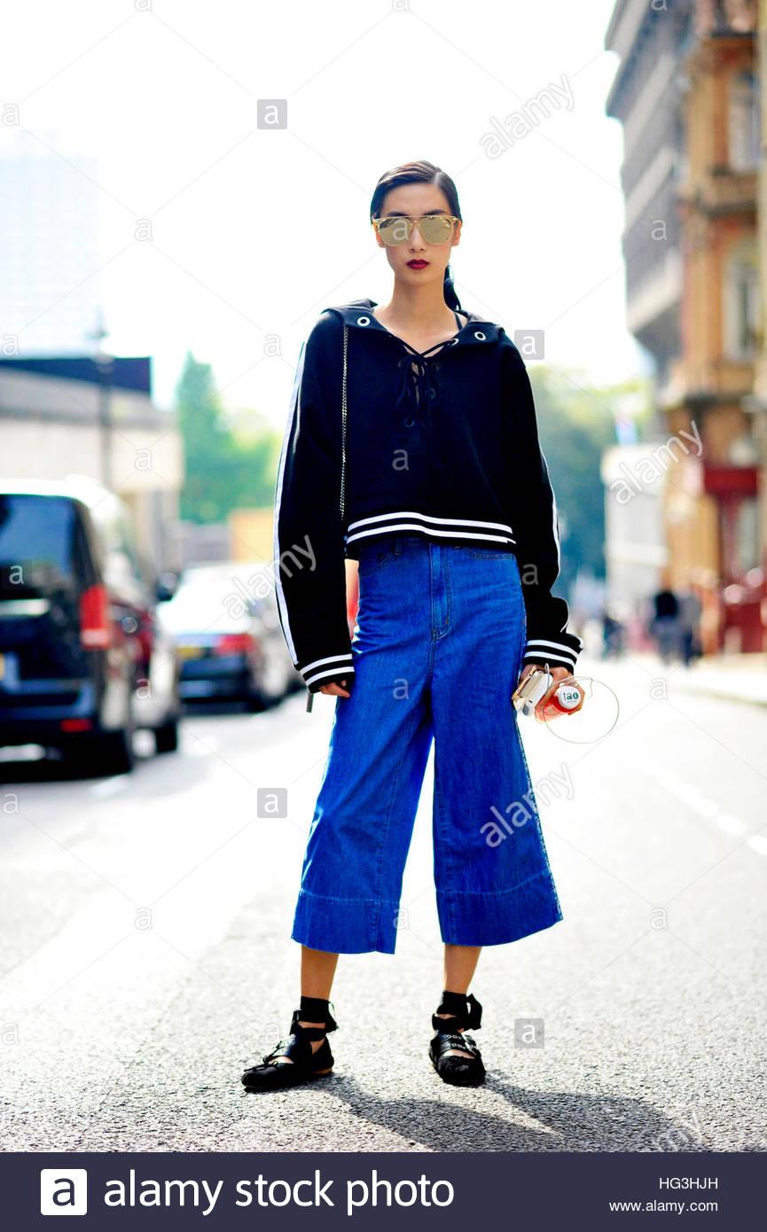 c94f13541 Model Dylan Xue, After Roksanda The Strand London Fashion Week SS17 FW16 Street  Style September 19 2016.