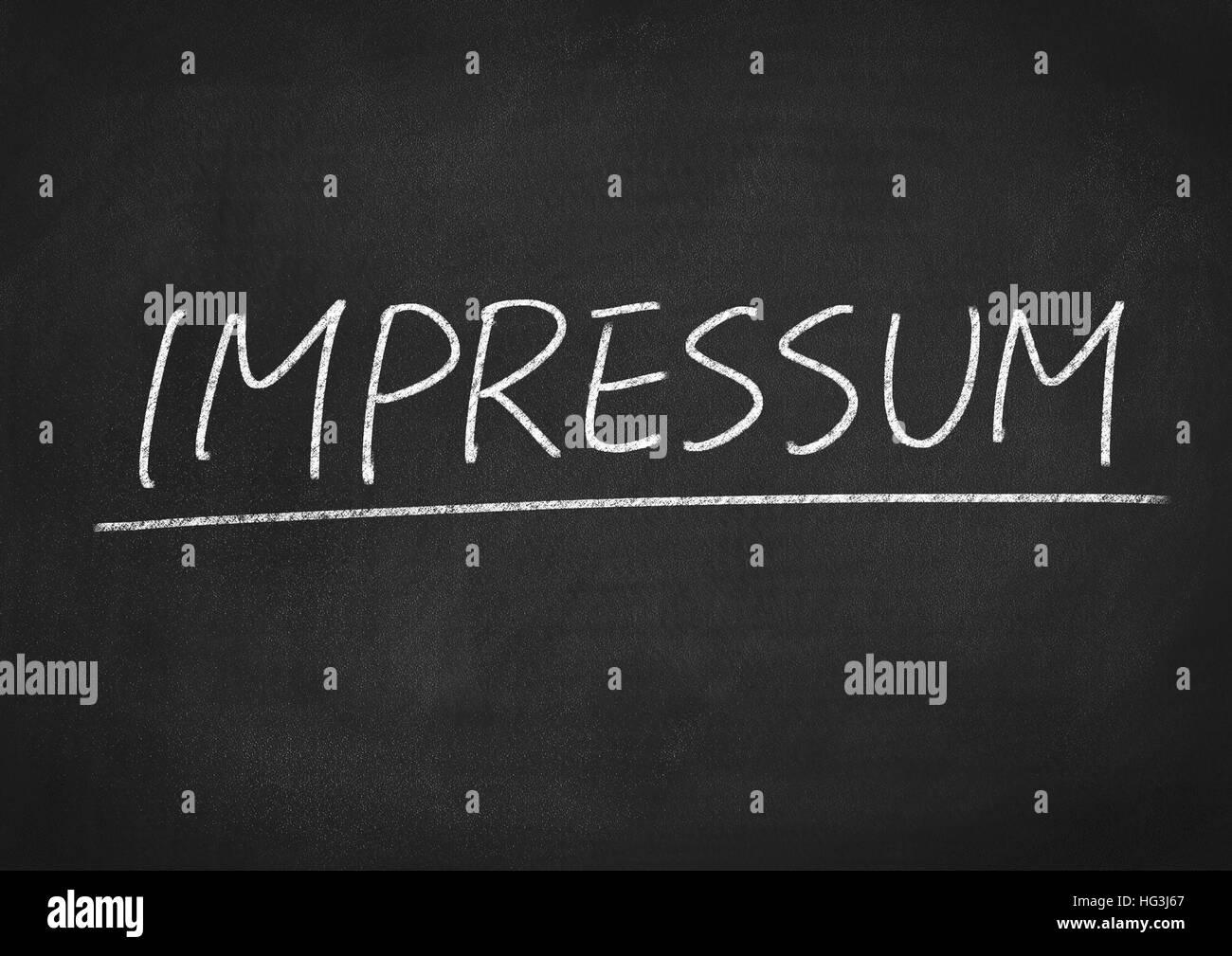 impressum - Stock Image