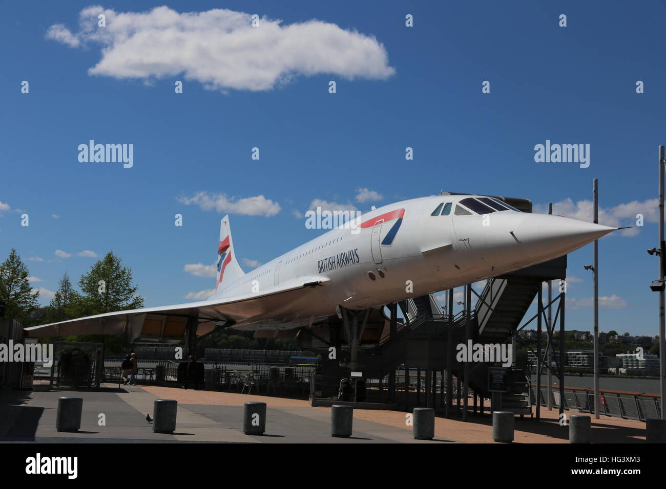 Concorde Supersonic Jet at the USS Intrepid Sea, Air & Space Museum - Stock Image