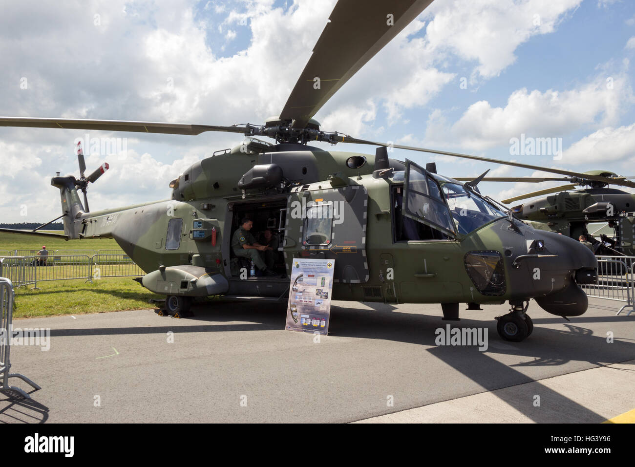 German Army NH90 helicopter - Stock Image