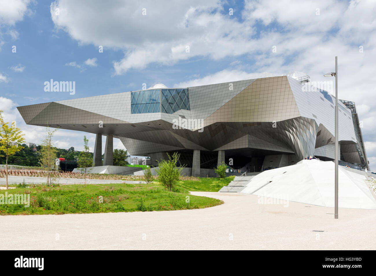 The spacecraft-like Musee des Confluences in Lyon, France. - Stock Image