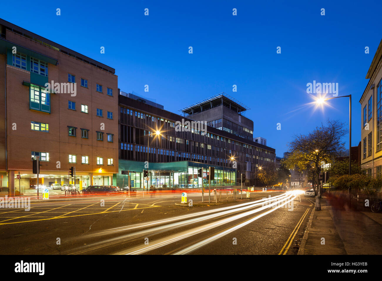 Bristol Royal Infirmary, Bristol, UK. Redevelopment. Stock Photo