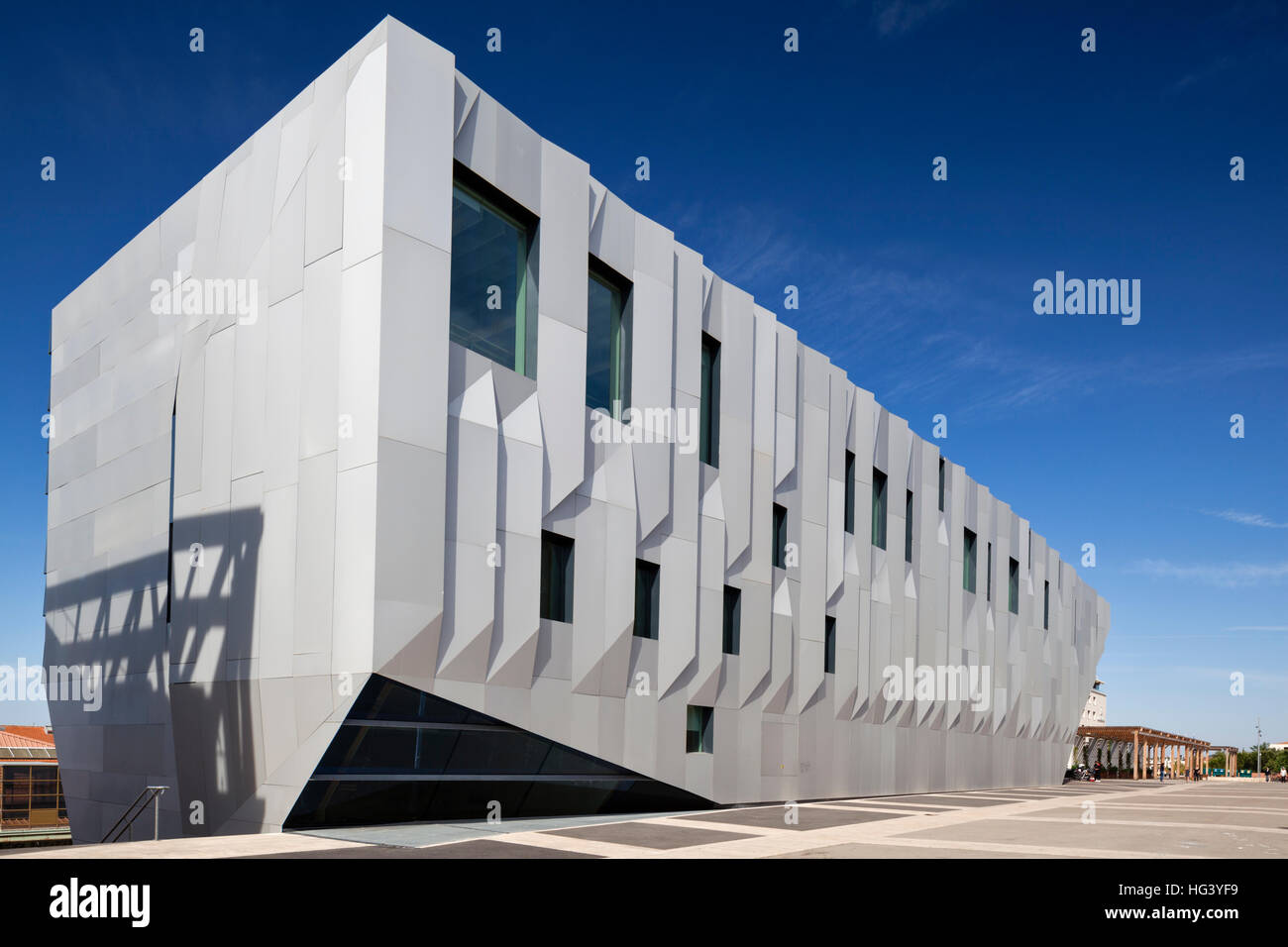 Overall view of the Darius Milhaud Conservatory of Music, Dance and Dramatic Art in Aix-en-Provence, France. - Stock Image