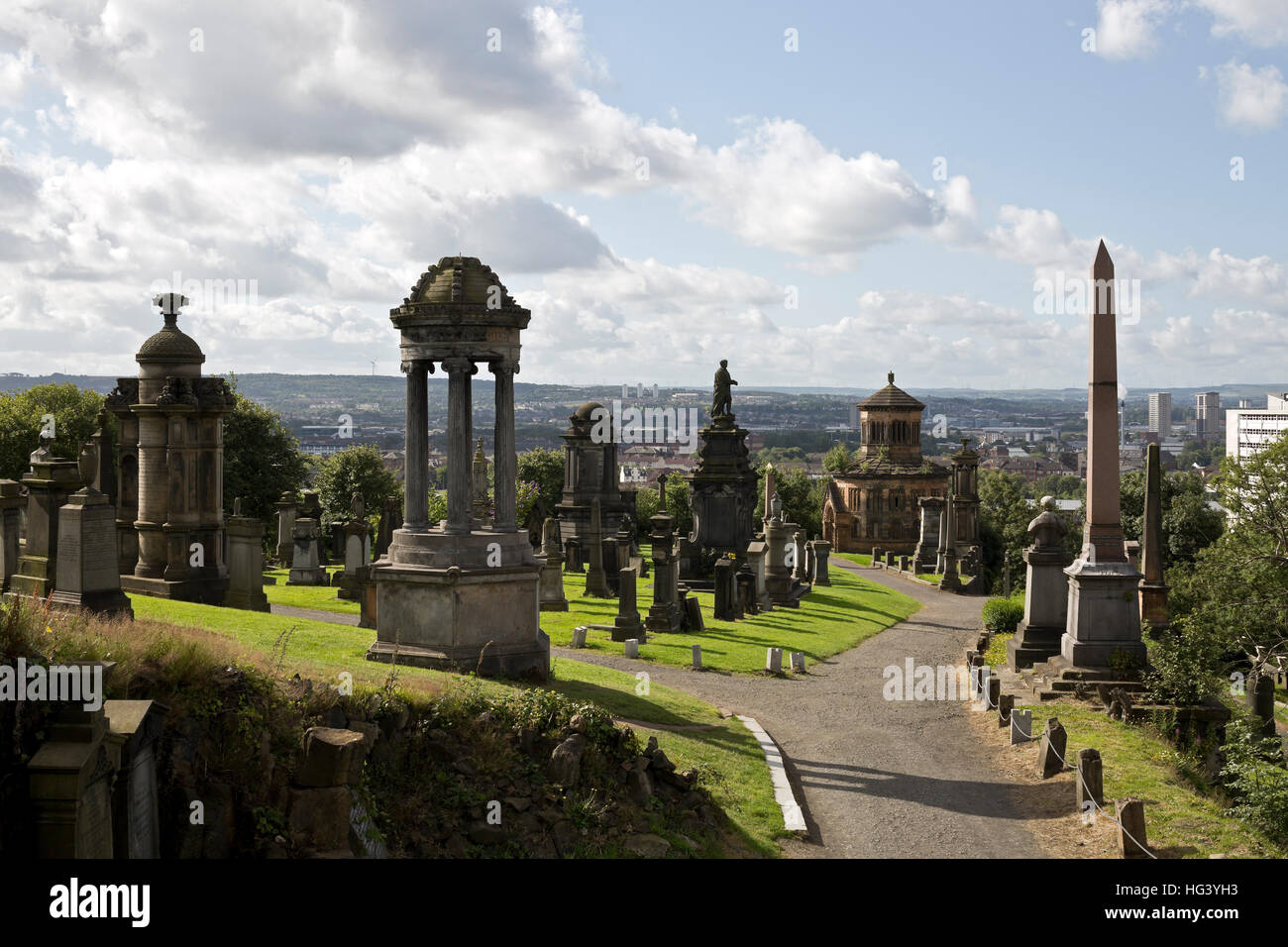 Glasgow Necropolis, Scotland, UK. - Stock Image
