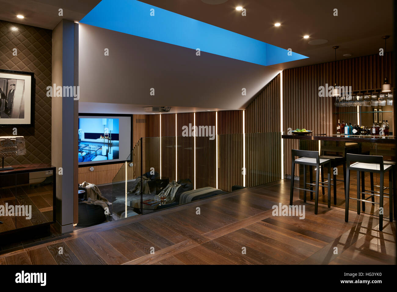 Interior of a house in London, England - Stock Image