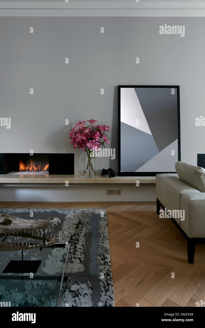Residential building, London, UK. Interior view. - Stock Image