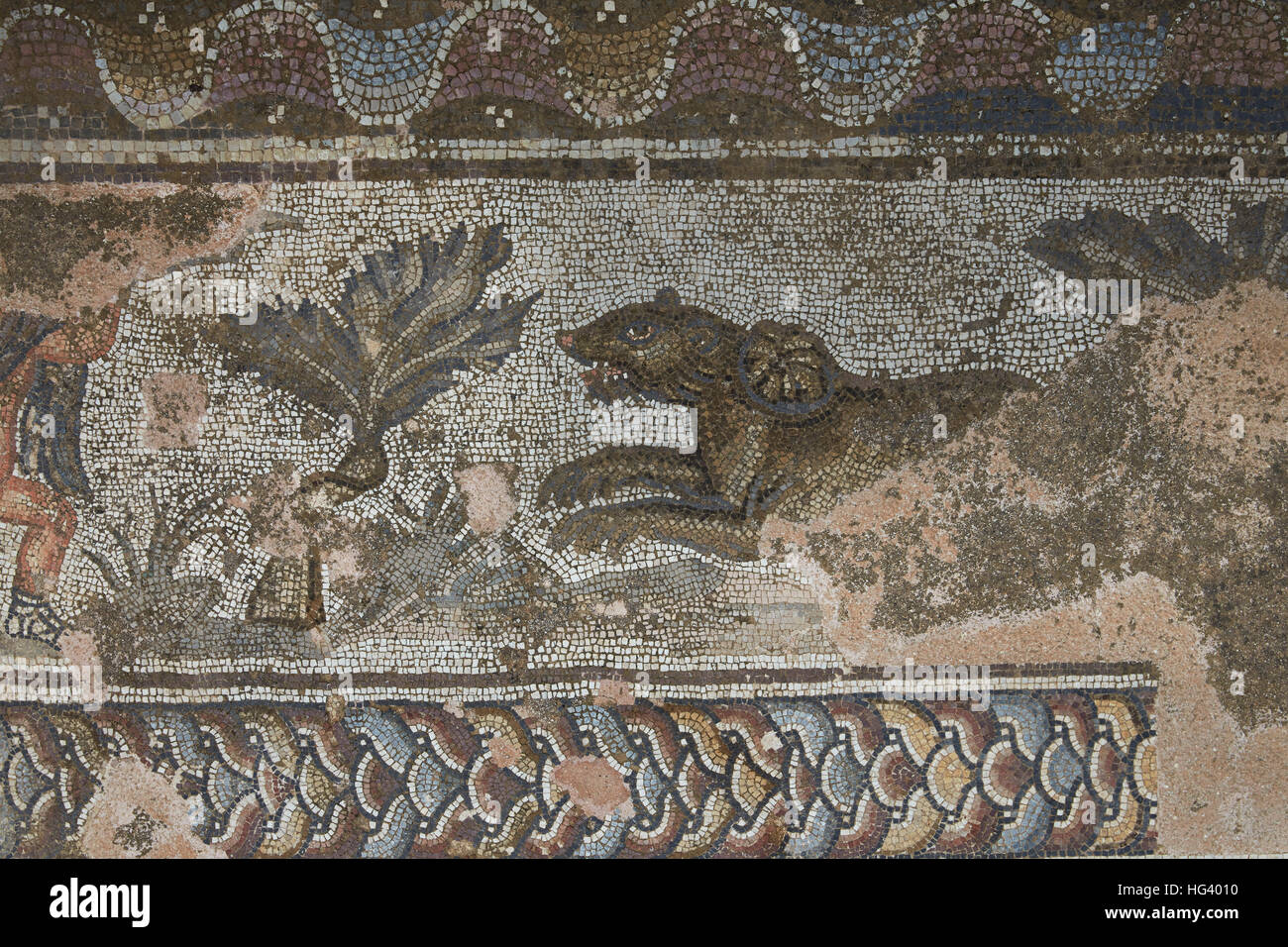 The mosaics of Nea Paphos, Cyprus. - Stock Image