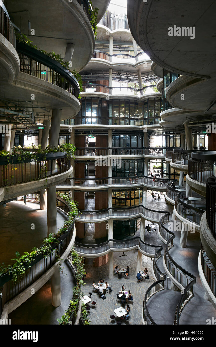 Learning Hub, The Hive, Nanyang Technological University (NTU), Singapore. Interior view. - Stock Image
