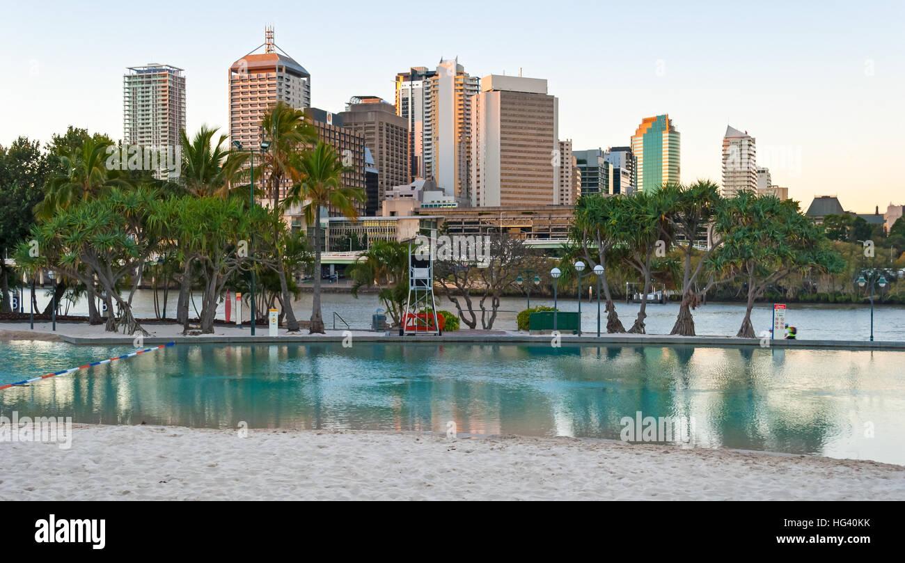 Brisbane, Streets Beach - Stock Image