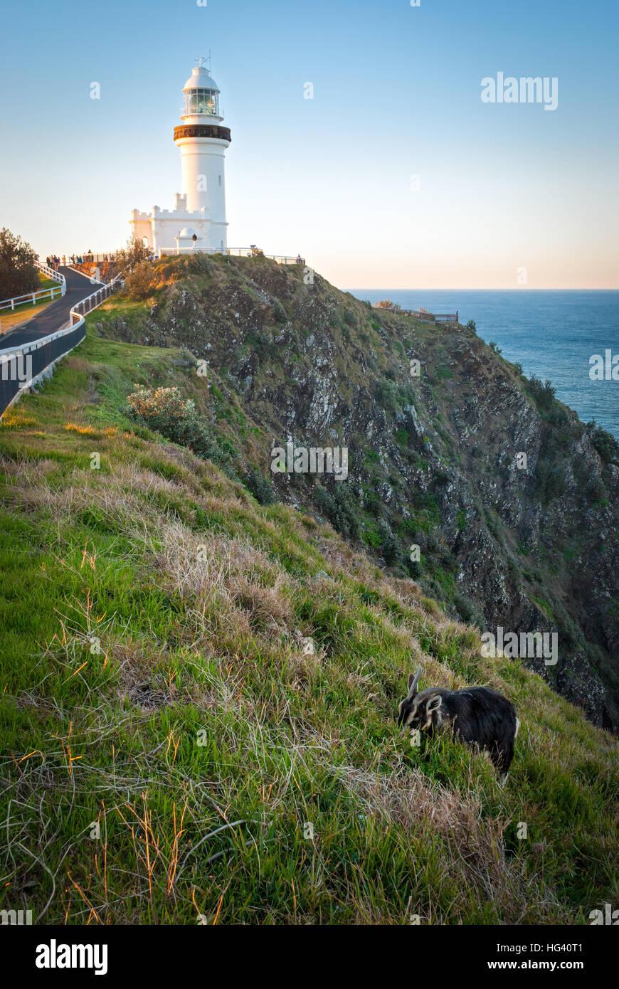 Byron Bay lighthouse, Australia - Stock Image