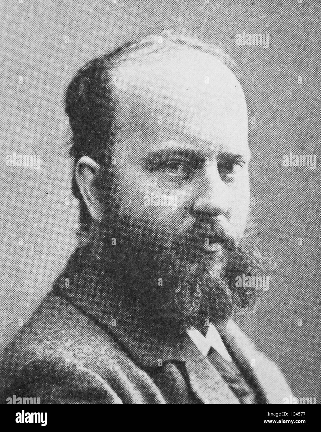 Ferdinand Avenarius, 20 December 1856 - 22 September 1923, was a lyric poet, a leading representative of the culture - Stock Image
