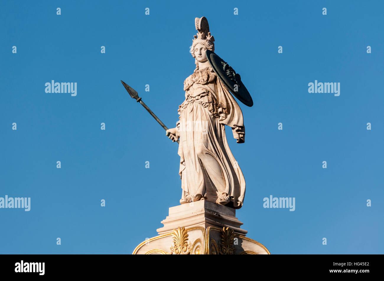 classic statue of athena - Stock Image
