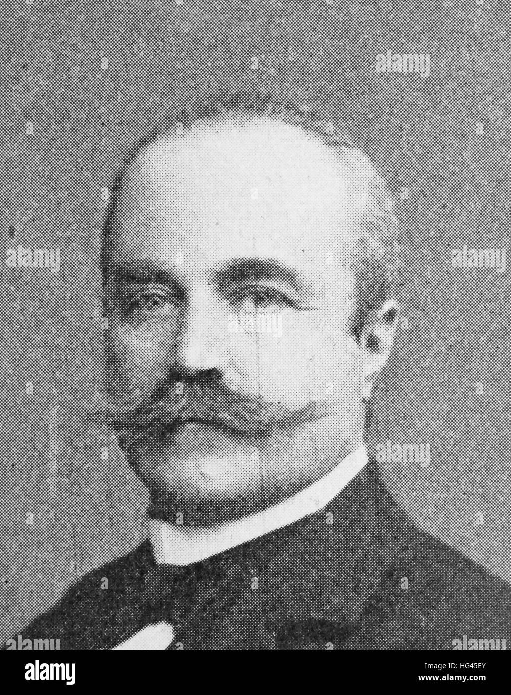 Richard von Kaufmann, Born March 29, 1849; died March 11, 1908, was a German-Nationaloekonom of Jewish, Privy Councillor, - Stock Image