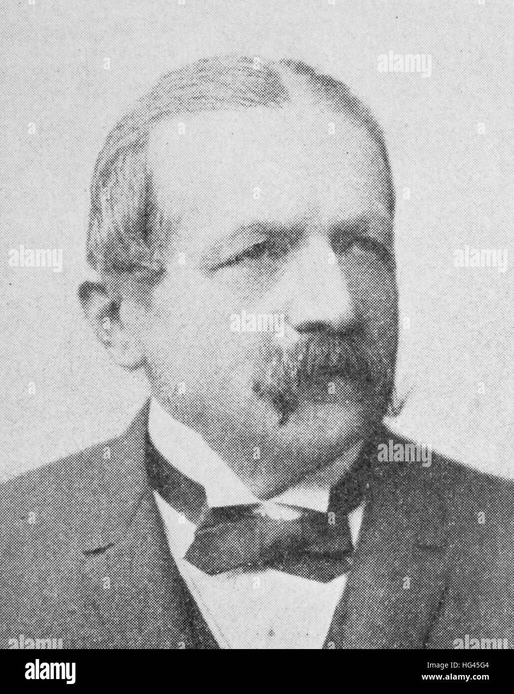 Richard Eduard Koch, From 1908 by Koch, born 15 September 1834; Died 15 October 1910, was from 1890 to 1908 president - Stock Image
