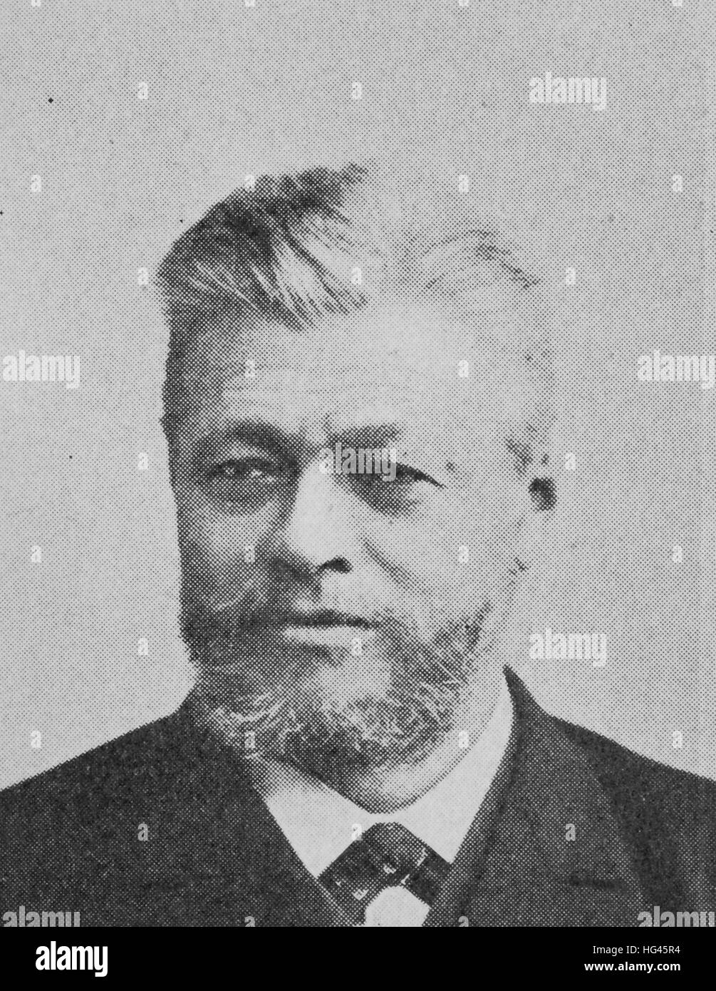 Franz Stumpf, born 1840, german businessman, industrial developer, reproduction of a photo from the year 1895, digital Stock Photo
