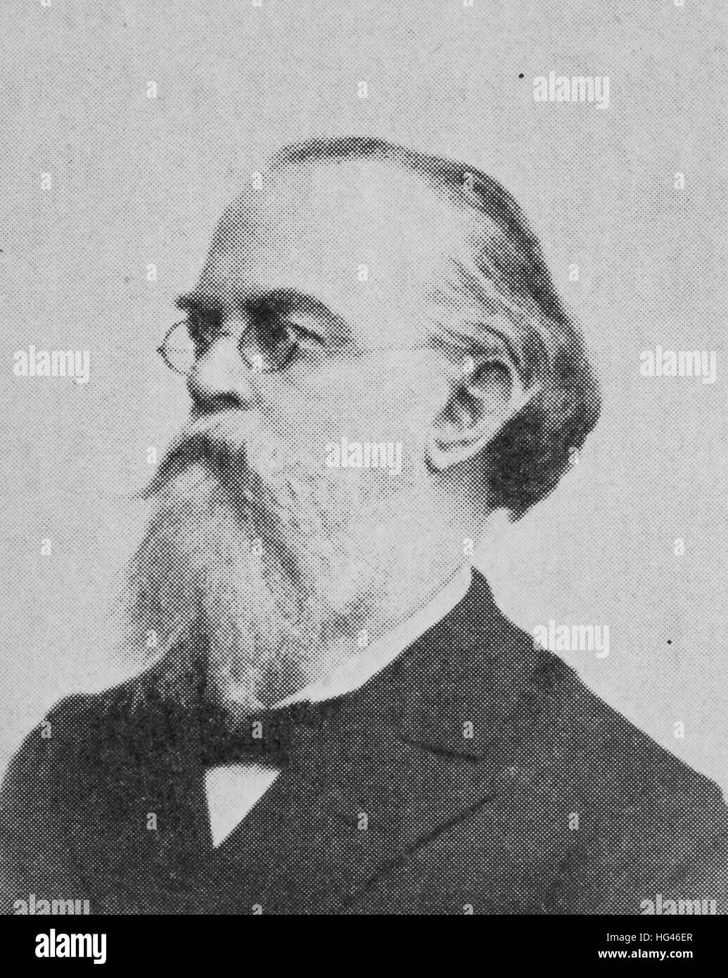 Gustav Anton Zeuner, 30 November 1828 - 17 October 1907, was a German physicist, engineer and epistemologist, considered - Stock Image