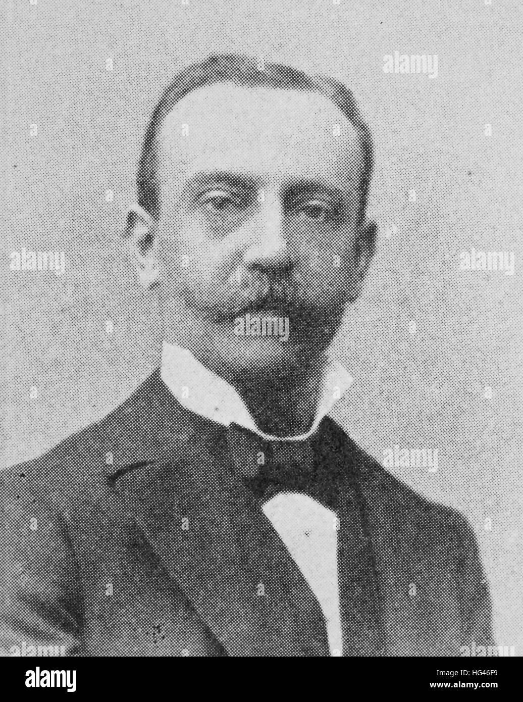 Reinhold Krohn, Born November 25, 1852; Died June 29, 1932; Full name: Reinhold Friedrich Karl Krohn, was a German - Stock Image