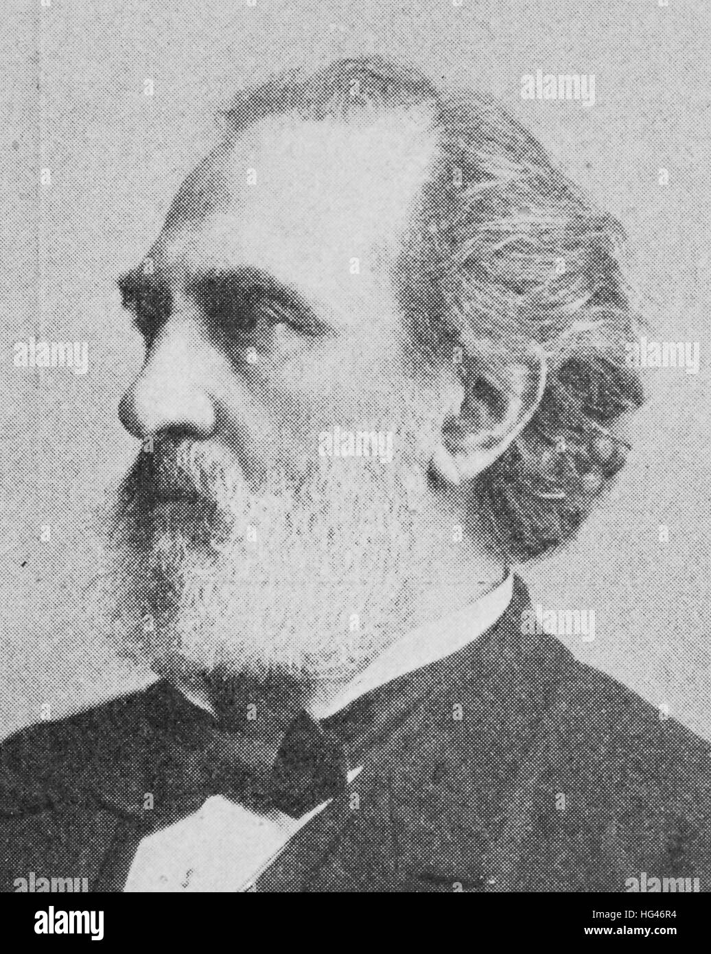 Franz Reuleaux, 30 September 1829 - 20 August 1905, was a mechanical engineer and a lecturer of the Berlin Royal - Stock Image