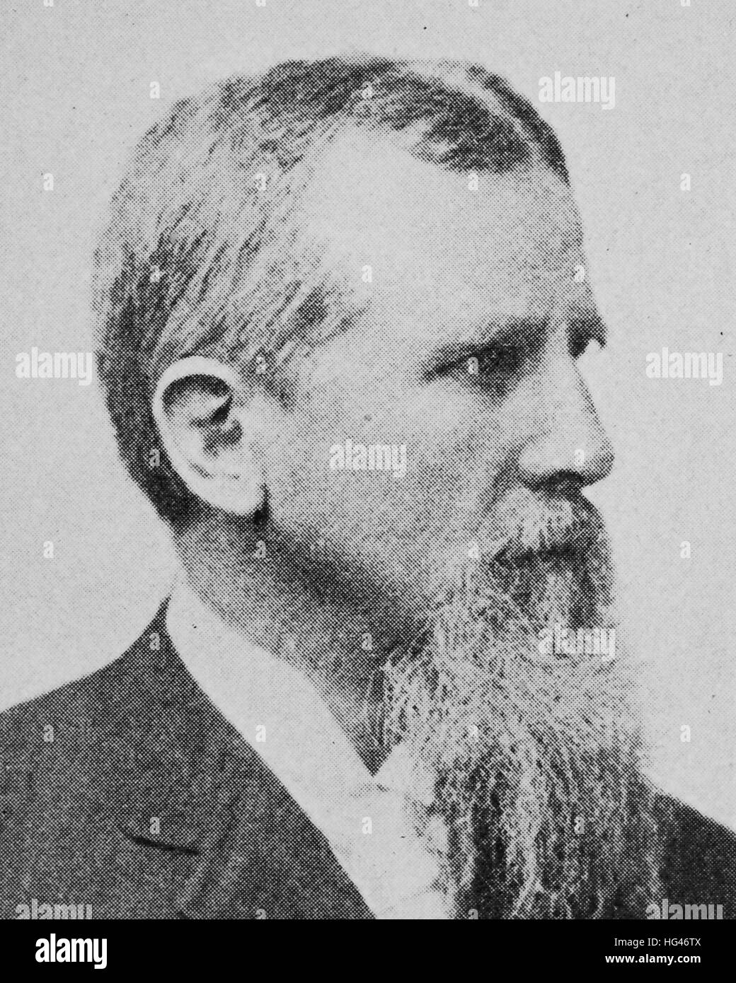 Friedrich Ratzel, August 30, 1844 - August 9, 1904, was a German geographer and ethnographer, reproduction of a - Stock Image