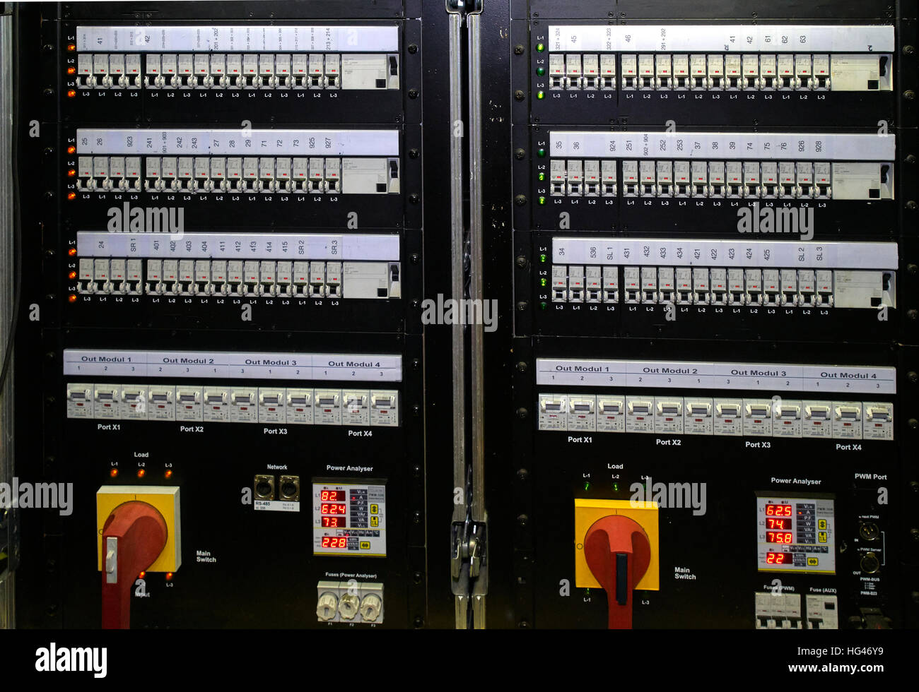 fuse box electric power stock photos & fuse box electric power stock fused switch box fuse box with switch and lights stock image