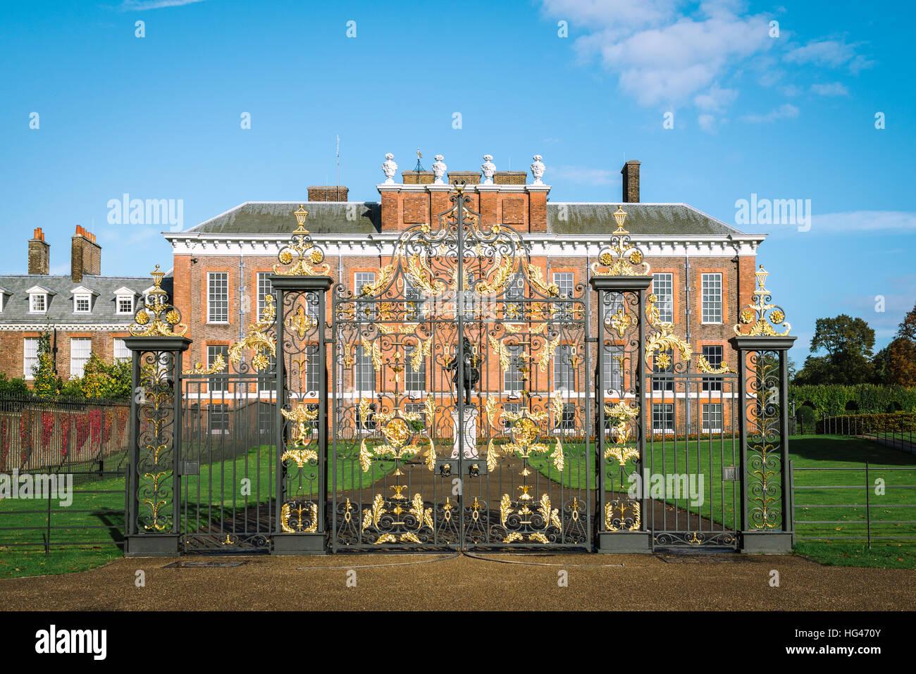 London, United Kingdom - October 17, 2016: Outside of Kensington Palace in London, England. - Stock Image