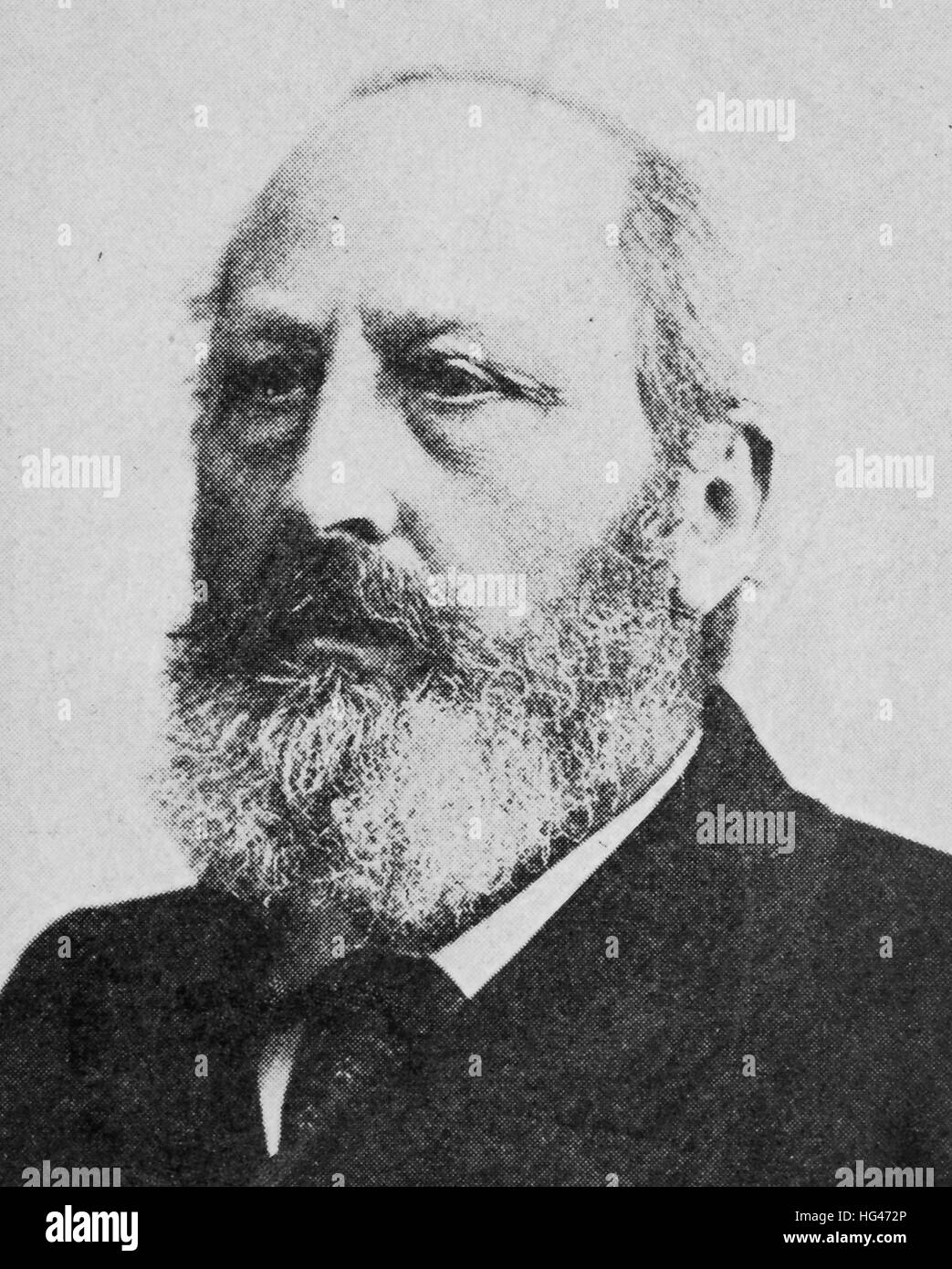 Eduard Suess, August 20, 1831 - April 26, 1914, was an Austrian geologist who was an expert on the geography of - Stock Image