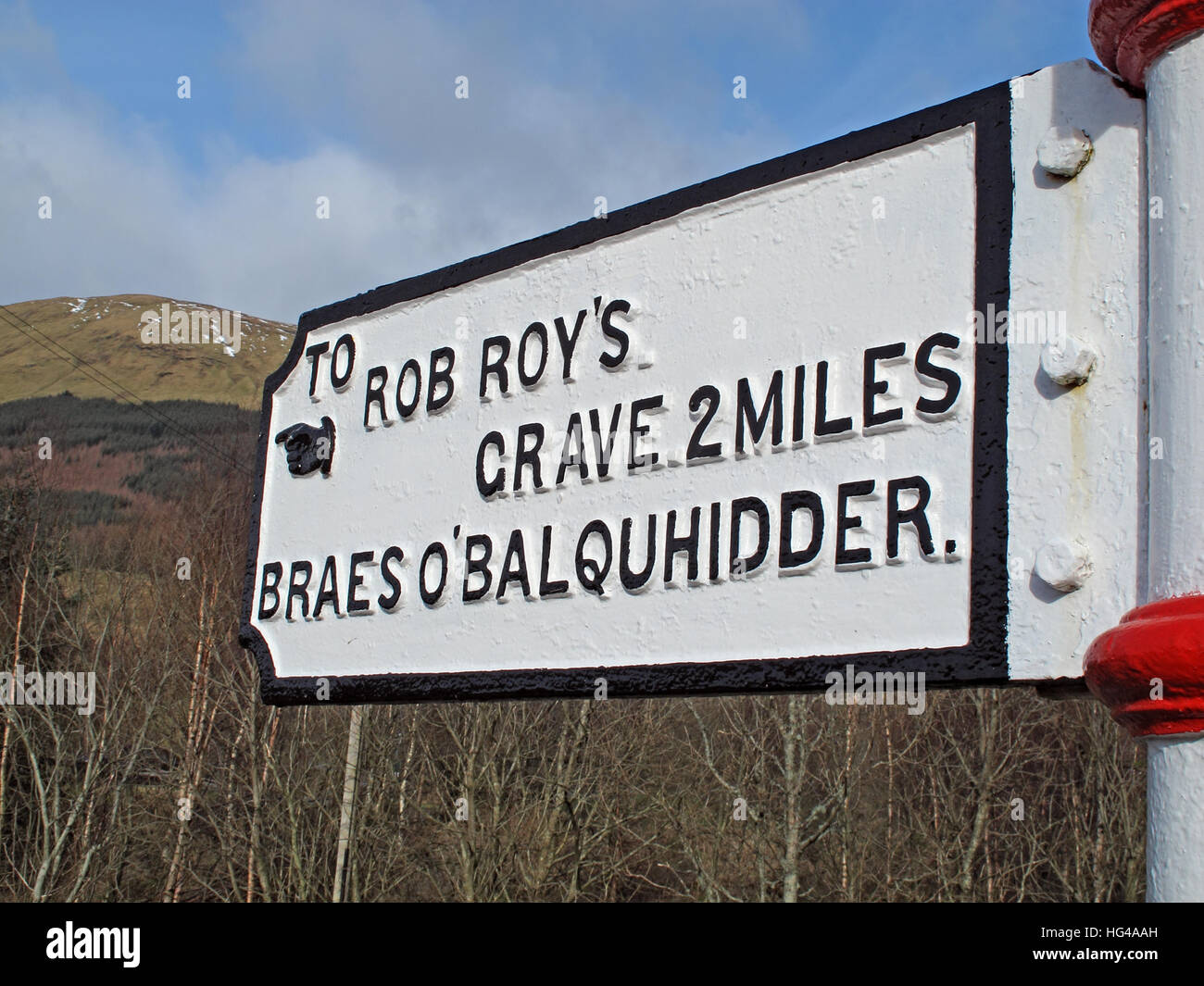 To Rob Roys grave  Balquhidder, - Robert 'Rob' Roy MacGregor - Stock Image