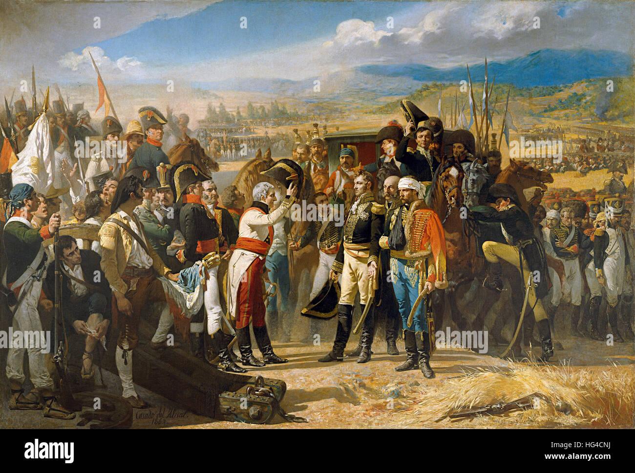 The Surrender at Bailén, Peninsular War - Stock Image