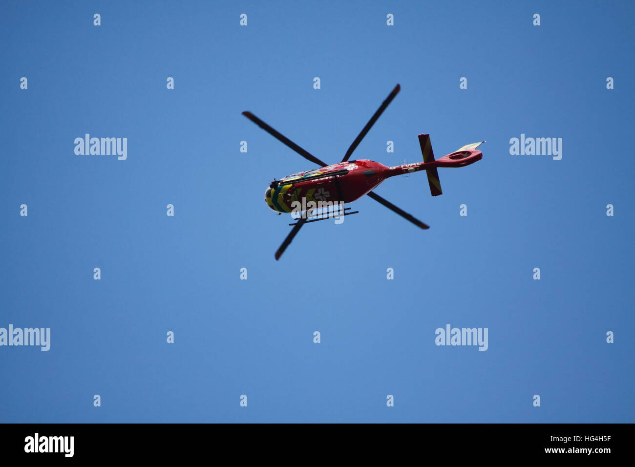 Air Ambulance Helicopter - Stock Image