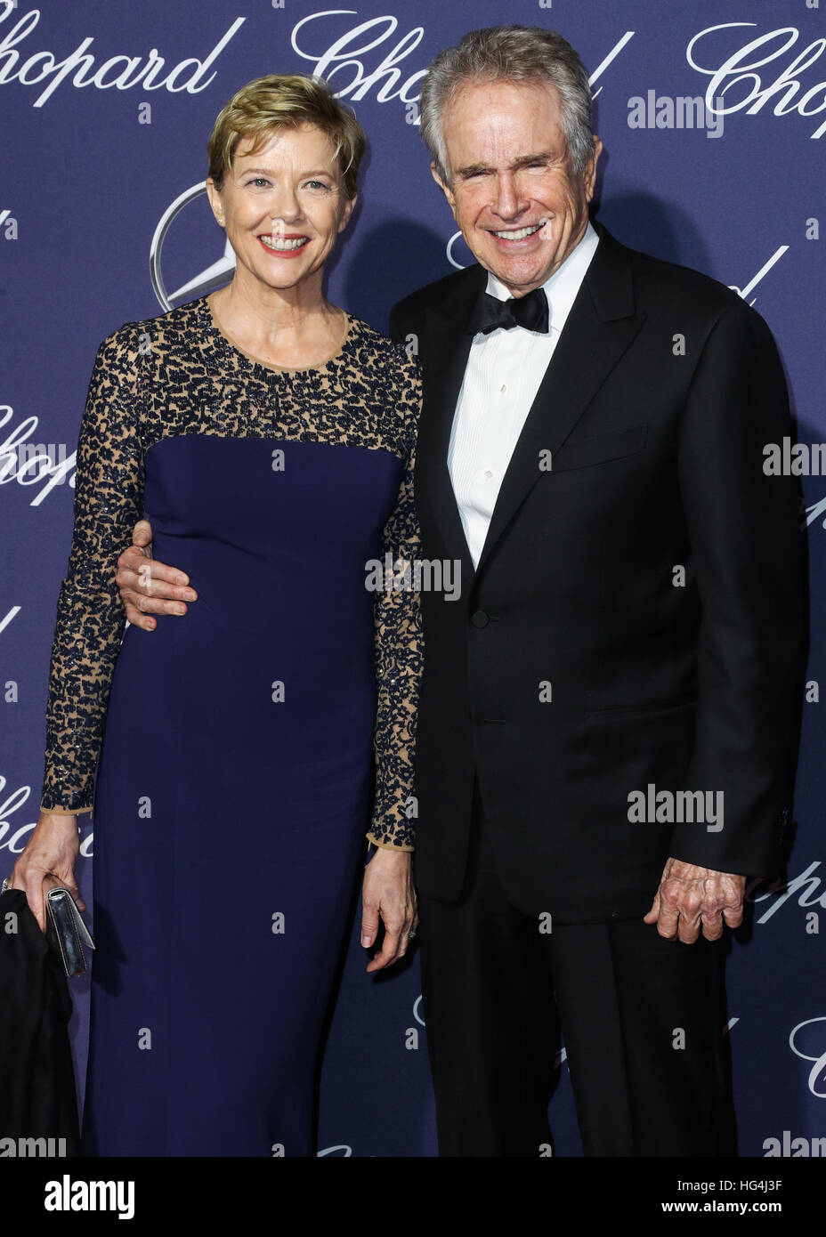 January 3rd, 2017 - Palm Springs  Annette Bening and Warren Beatty attend the 28th Annual Palm Springs International - Stock Image