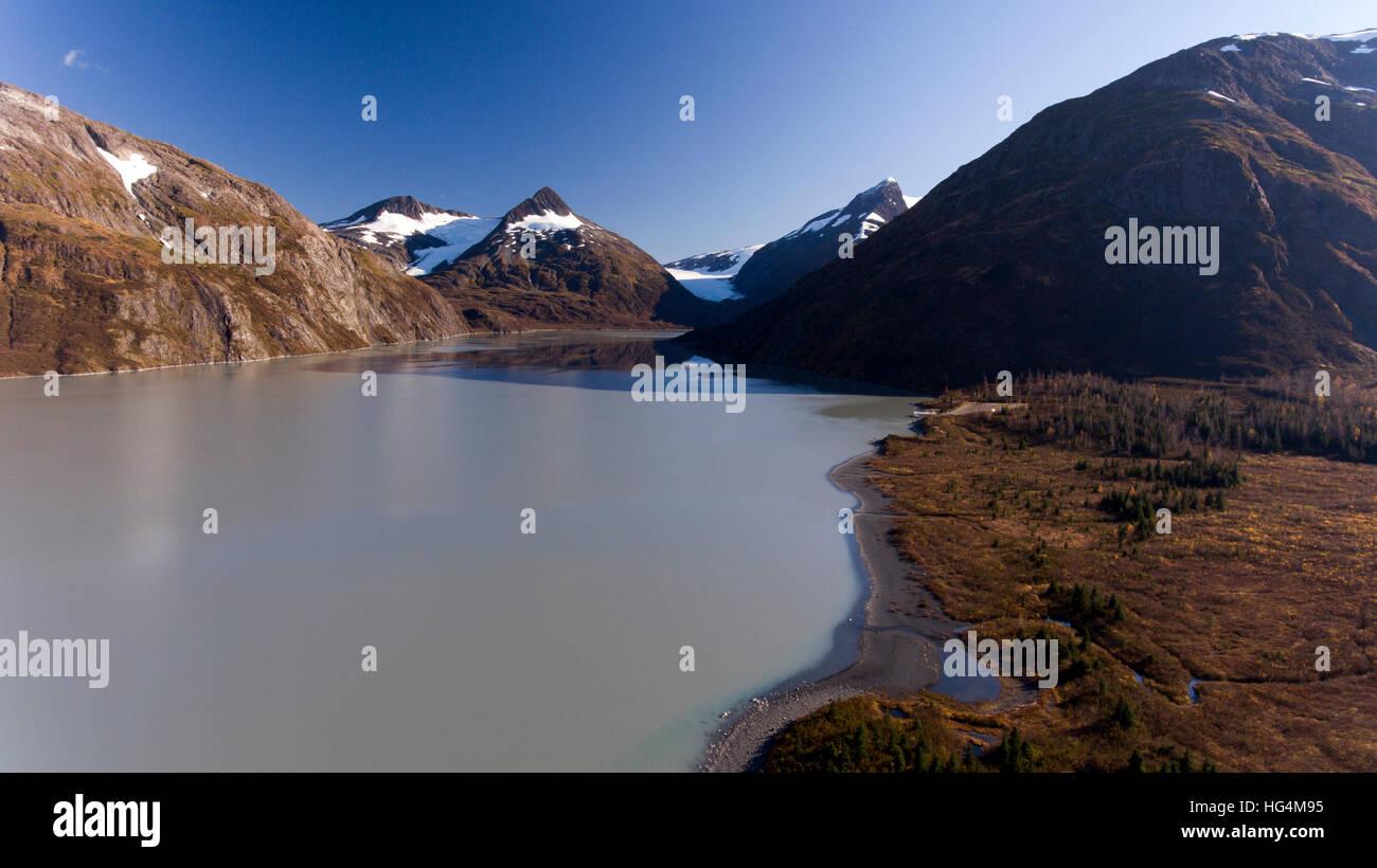 Portage Glacier Lake - Stock Image