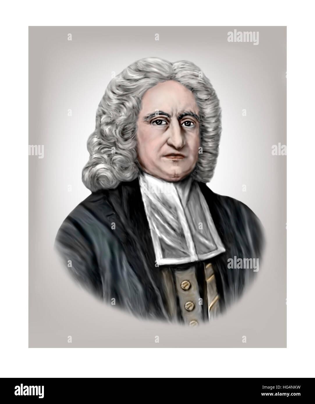 Edmond Halley, 1656-1742, Astronomer, Mathematician, Geophysicist, Meteorologist, Physicist - Stock Image