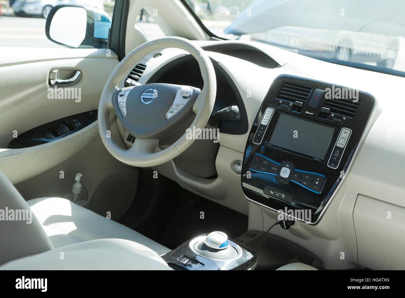 Nissan Leaf Electric Car Interior   USA