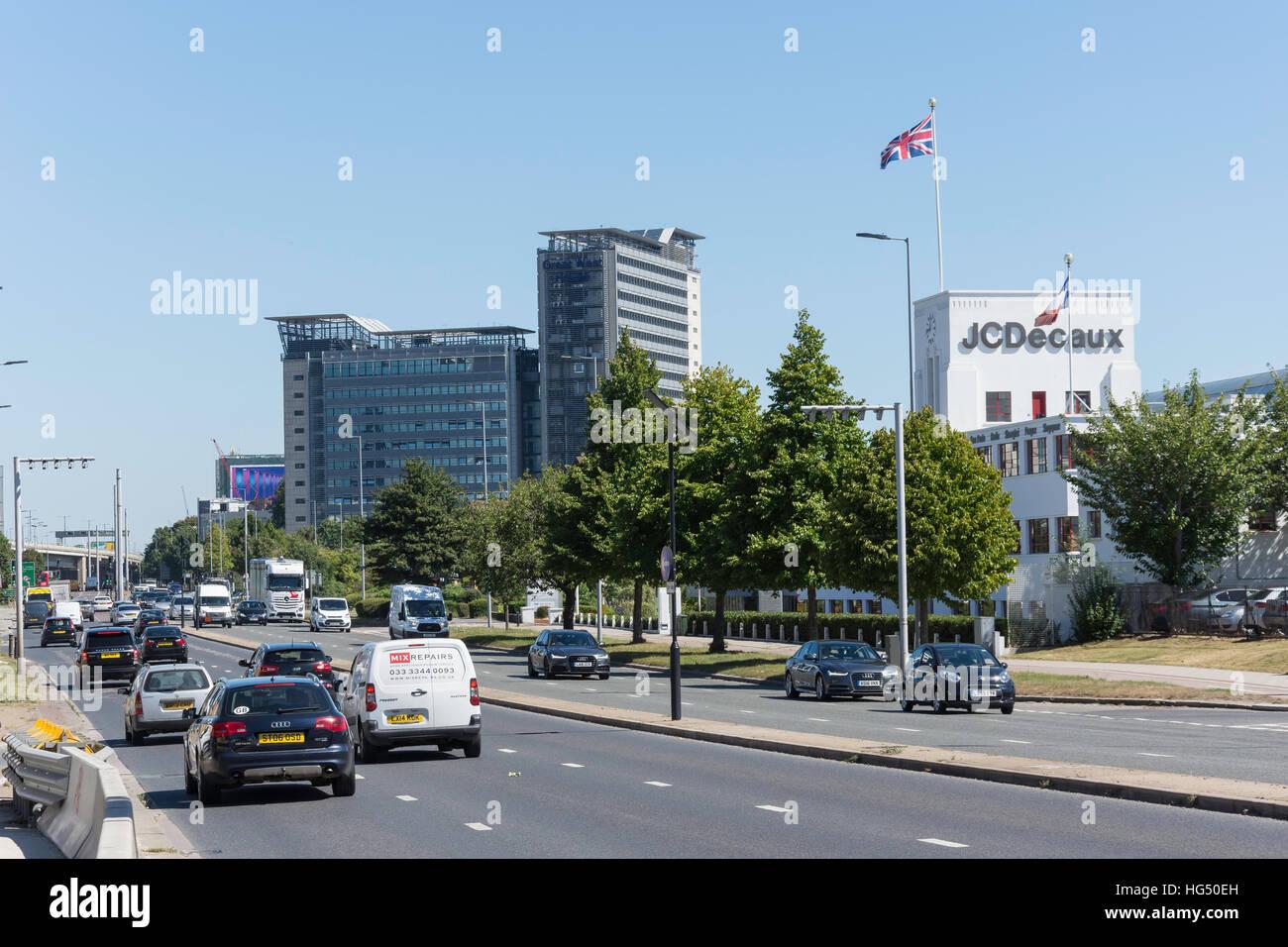 Great West Road, Brentford, London Borough of Hounslow, Greater London, England, United Kingdom Stock Photo