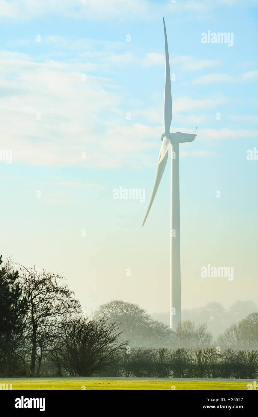 Wind-turbine just outside Garstang Lancashire England - Stock Image