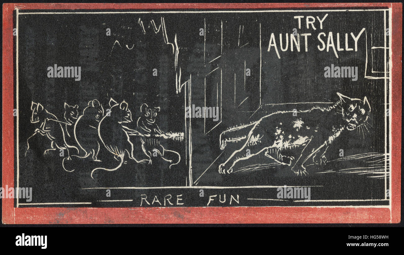 Baking Trade Card -  Try Aunt Sally - rare fun - Stock Image