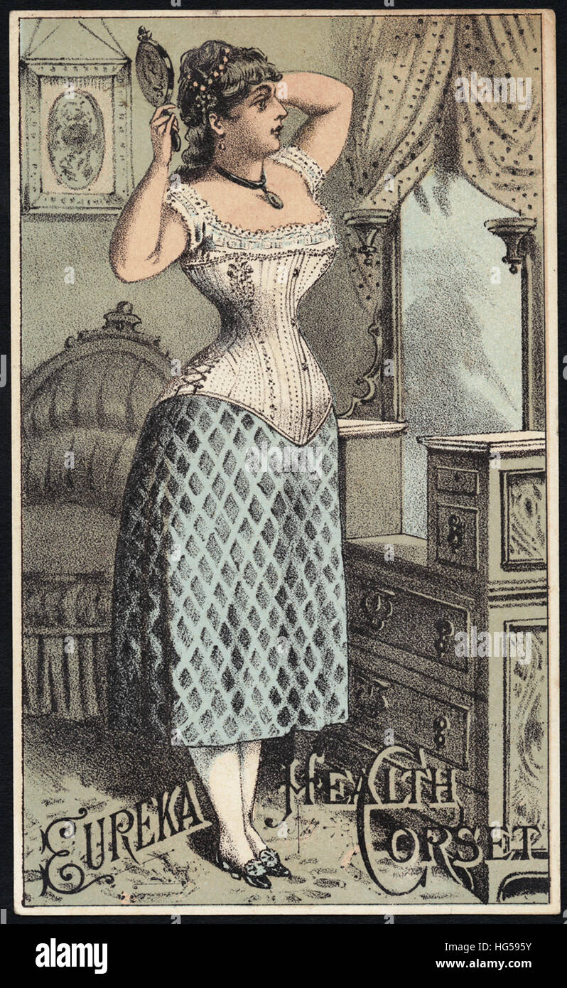 Clothing Trade Cards -  Eureka Health corset - Stock Image