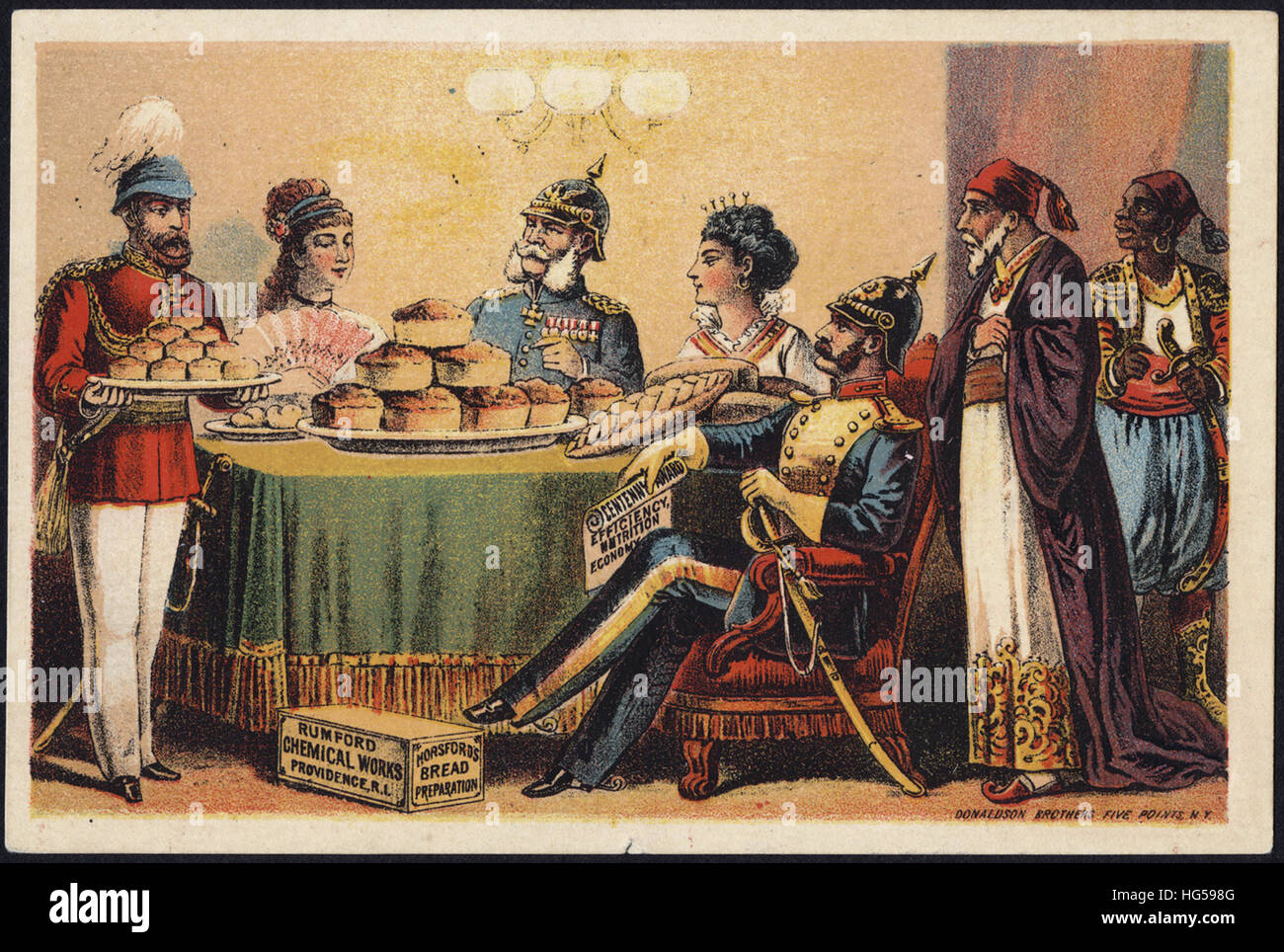 Baking Trade Card -  Rumford Chemical Works - Horsford's bread preparation. - Stock Image