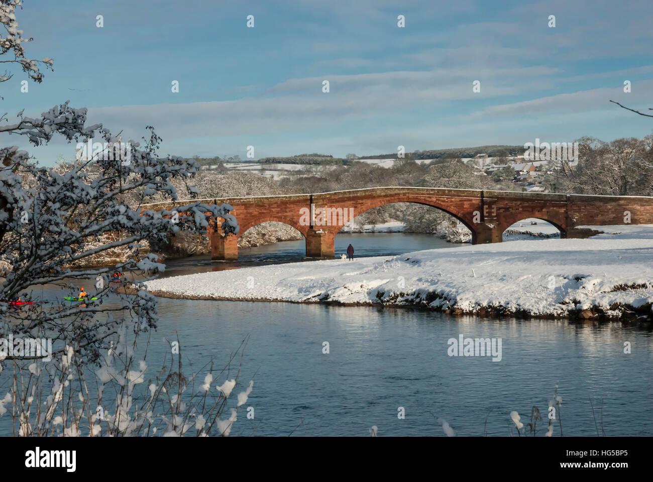 Eden Bridge, Lazonby, Eden Valley, Cumbria, England, United Kingdom - Stock Image