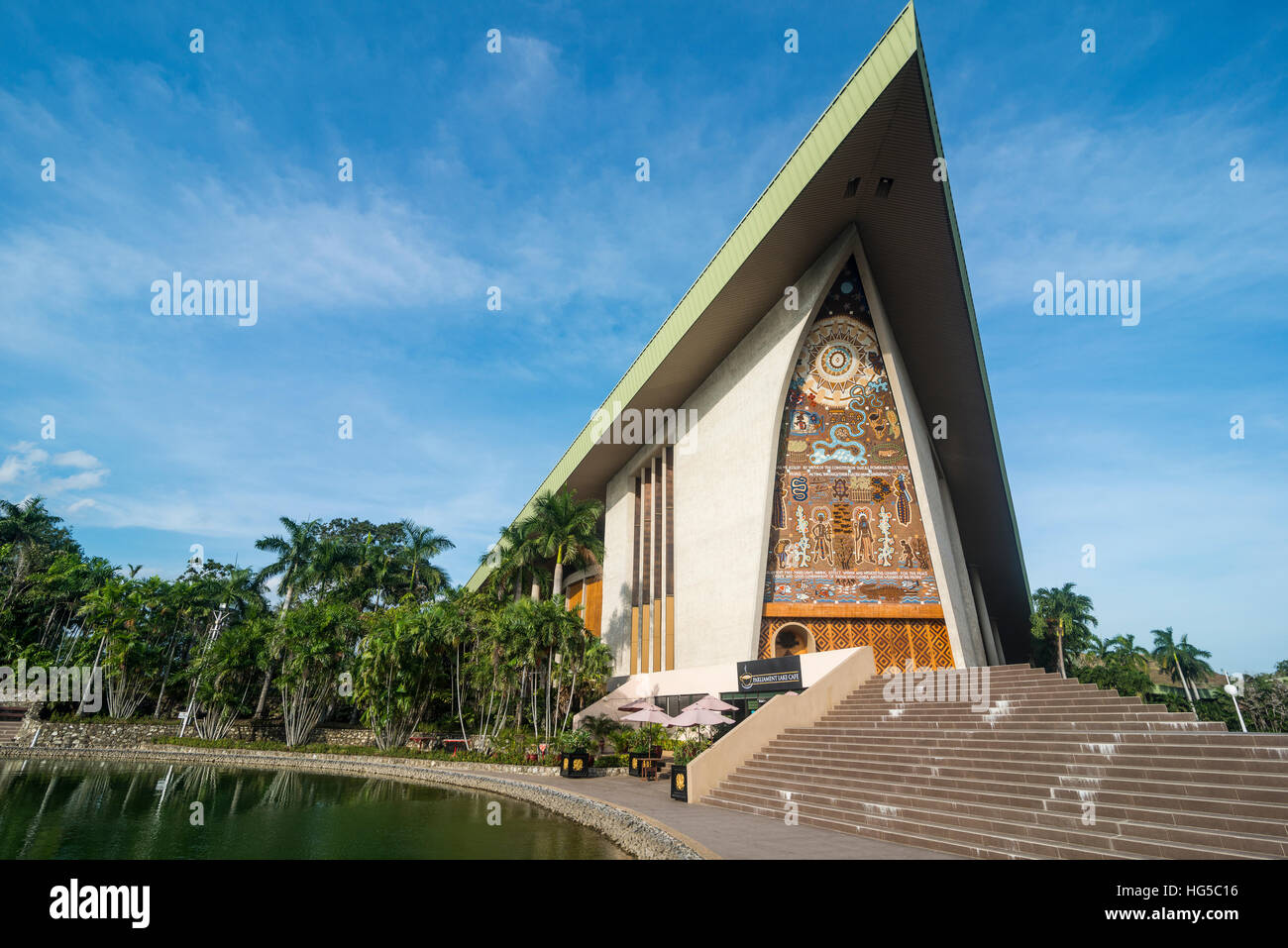 National Parliament, Port Moresby, Papua New Guinea, Pacific - Stock Image