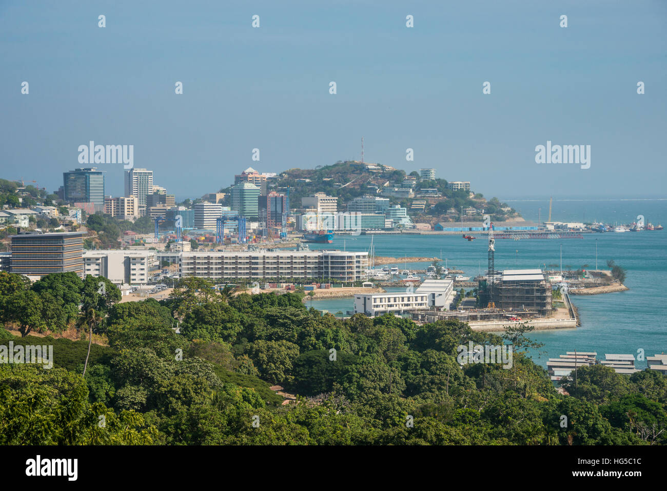 View over Port Moresby, Papua New Guinea, Pacific - Stock Image