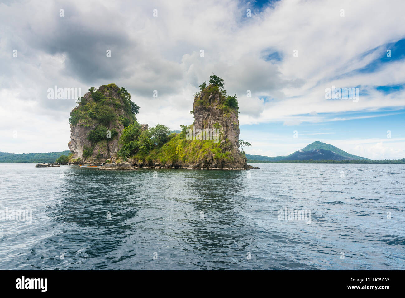 The Beehives (Dawapia Rocks) in Simpson Harbour, Rabaul, East New Britain, Papua New Guinea, Pacific - Stock Image