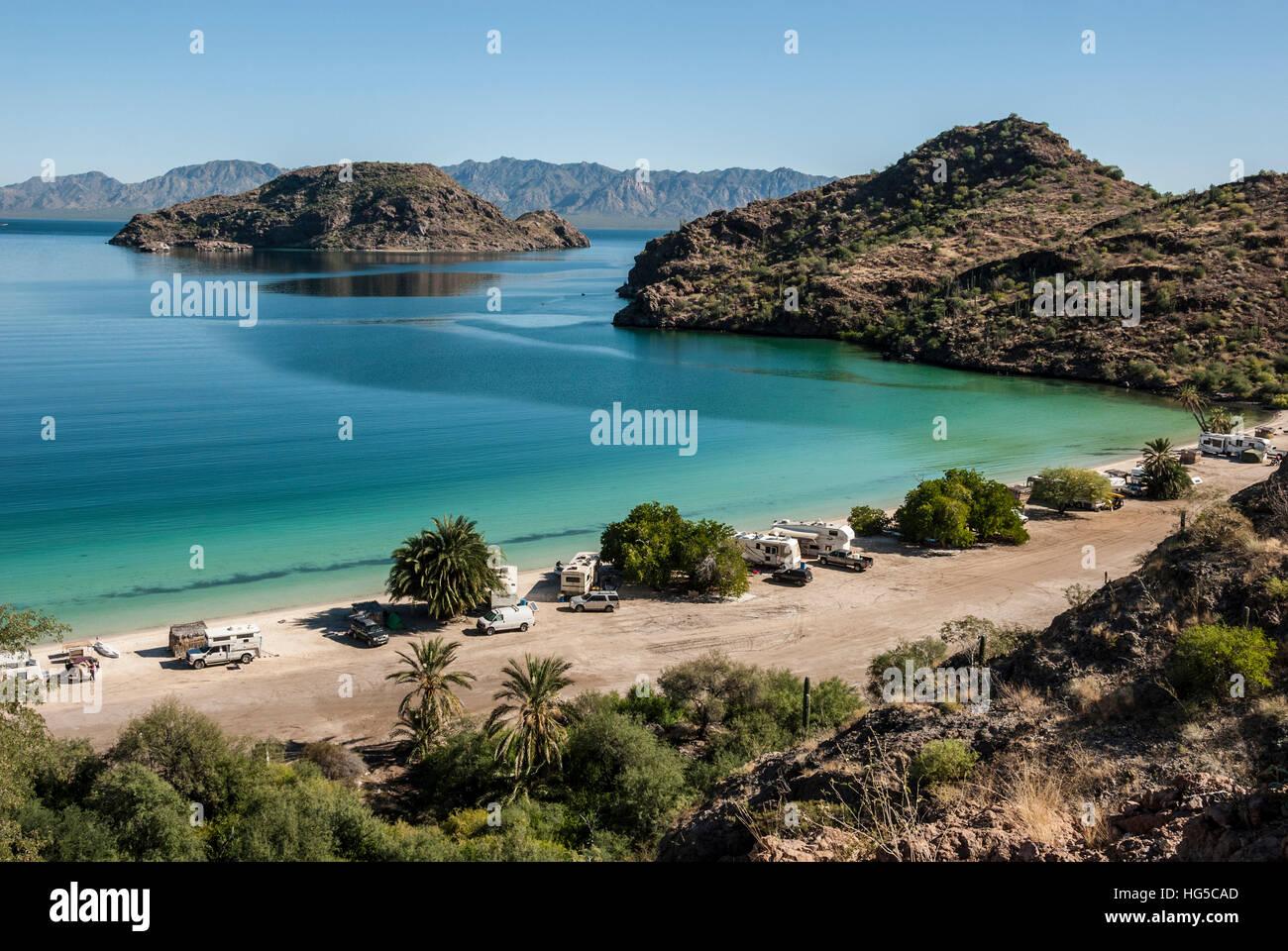 bay near loreto, into sea of cortez, baja california, mexico, north