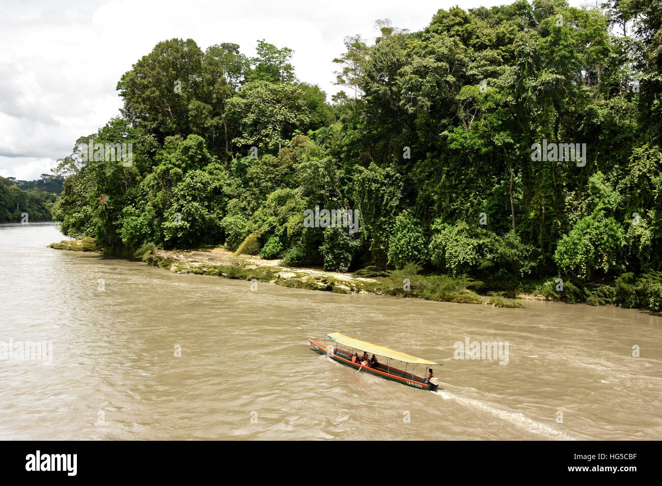 Misahualli in The Oriente, head of navigation on Rio Napo (Amazon), Ecuador, South America - Stock Image