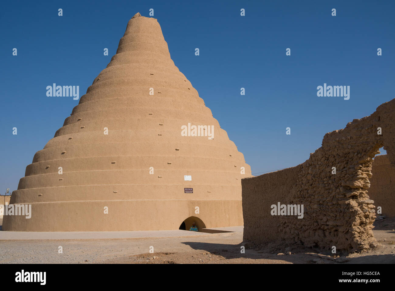 Ice house for preserving ice, Arbukuh, near Yazd, Iran, Middle East - Stock Image