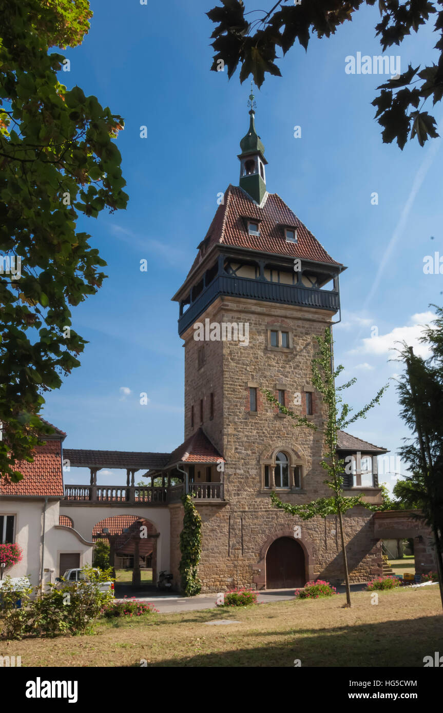 Winehouse, Pfalz Wine area, Germany Stock Photo