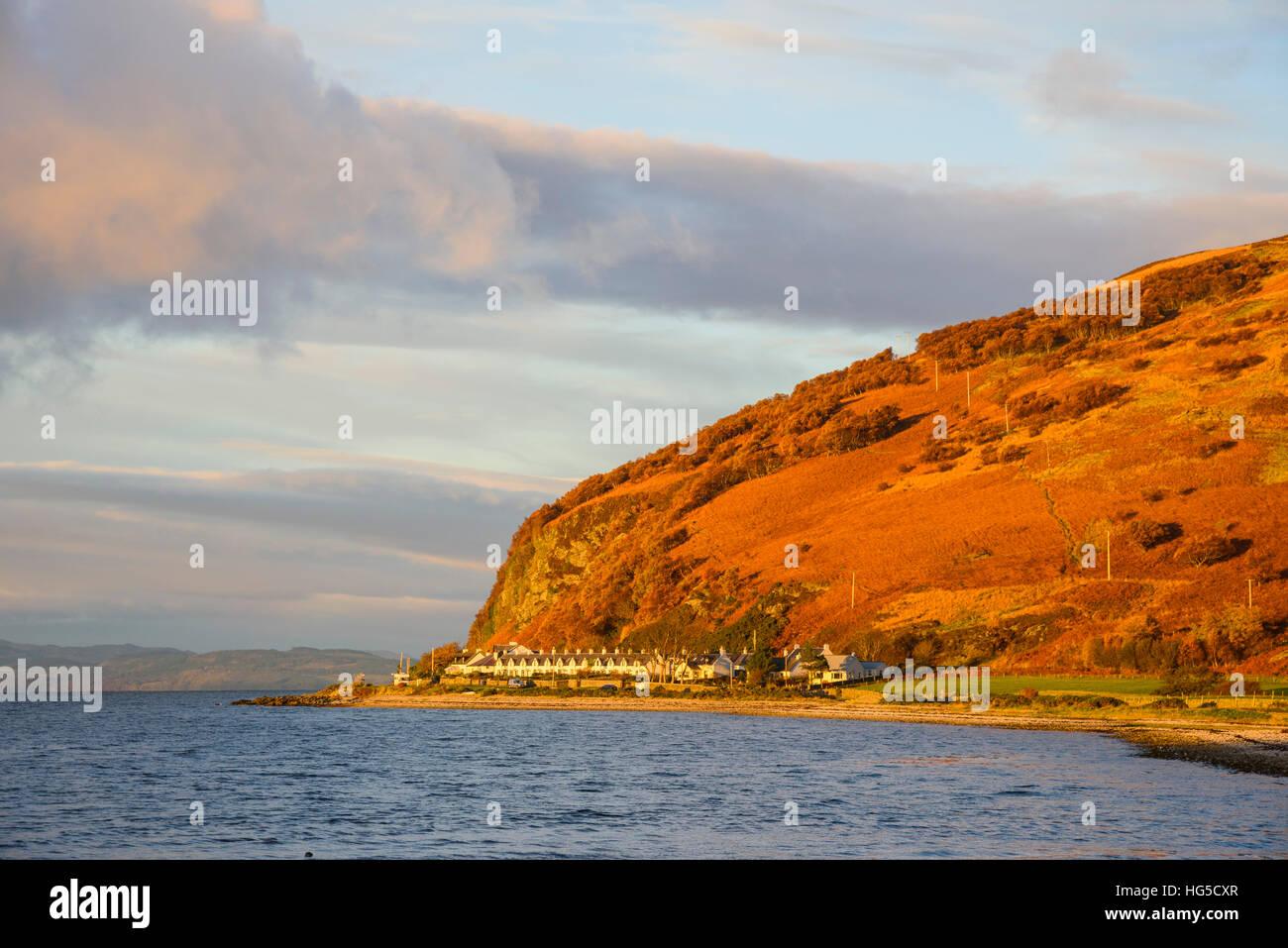 Catacol, Isle of Arran, North Ayrshire, Scotland, United Kingdom - Stock Image