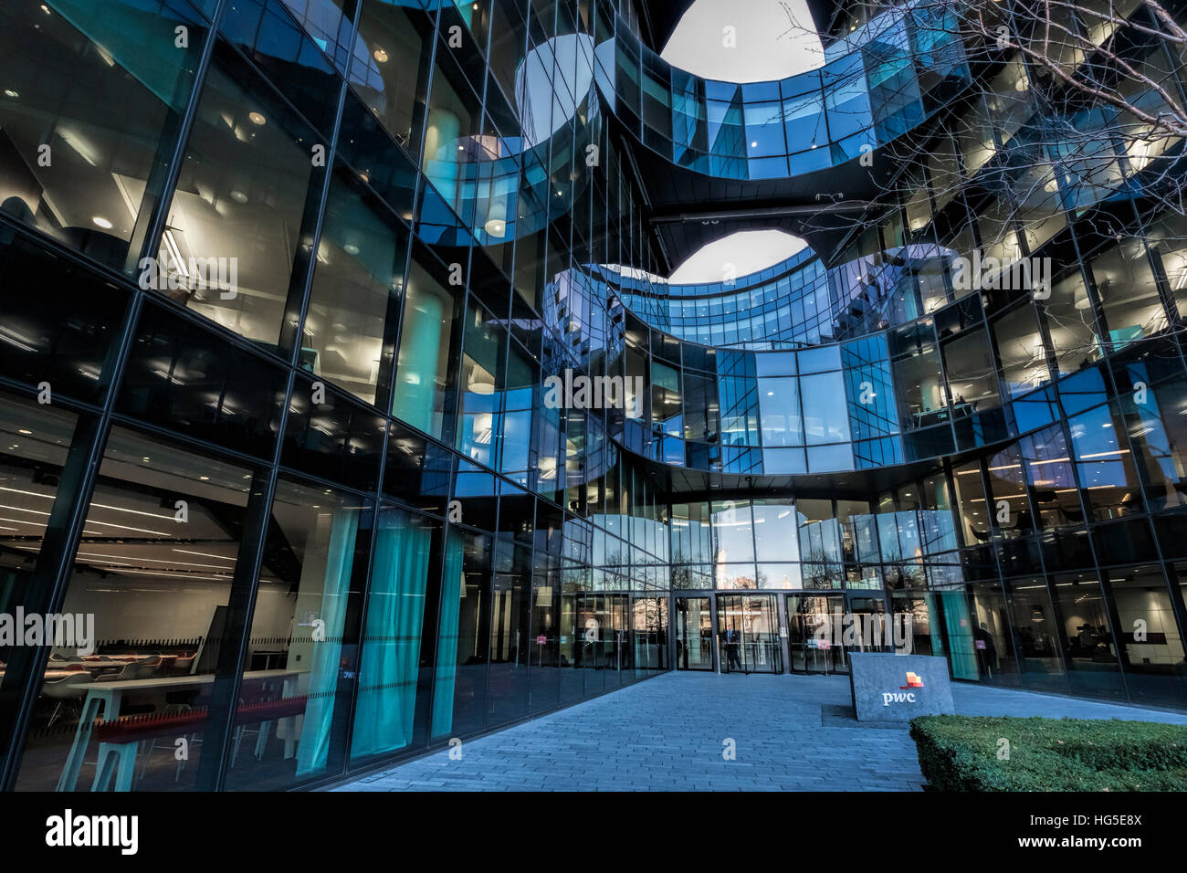 Price Waterhouse Coopers (PWC) offices, 7 More London, Southwark, London UK - Stock Image