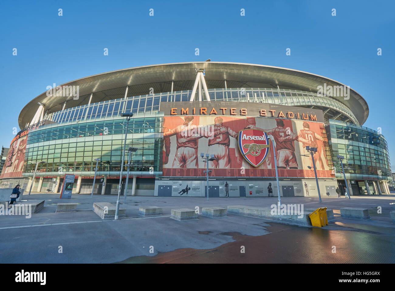 Arsenal football stadium.  Emirates stadium - Stock Image